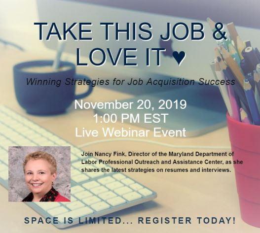Live Webinar - Winning Strategies For Job Acquisition Success