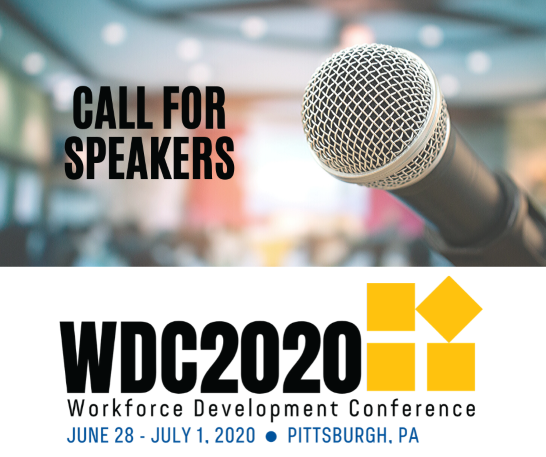 Call for Speakers for the 2020 Workforce Development Conference