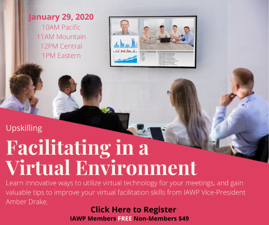 Live Webinar - Facilitating in a Virtual Environment