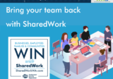 Bring your team back with SharedWork 1080 x 1080