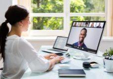 Lady Virtual Meeting